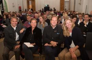 Bergfilmfestival Tegernsee 2017 Siegerehrung Barocksaal; v.li. Bürgermeister Johannes Hagn, Sabine Hagn, Freiherr von Maltzahn, Herzogin Anna in Bayern (Foto: Thomas Plettenberg)