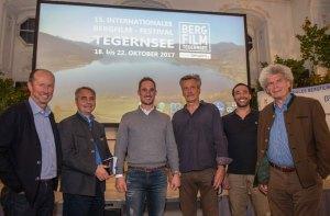 Bergfilmfestival 2017 in Tegernsee v lks Micki Pause, Johannes Hagn, Maximilian Werndl, Jürgen Eichinger, Paria Ravahi, Peter Janssen, Foto tp
