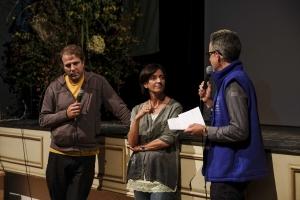 Bergfilm-Festival Tegernsee 2018 - im Ludwig-Thoma-Saal, Moderator Florian Schwarz im Gespräch mit Brigitte Kornberger