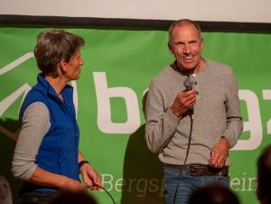 Bernhard Aicher im Interview mit Moderatorin Carolin Machl