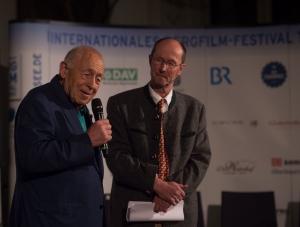 Der Schirmherr des Festival, Heiner Geißler, mit dem Festivaldirektor, Michael Pause (BR) (Foto: Thomas Plettenberg)