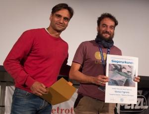 """Daniele Nardi und Federico Santini - Gewinner des Großen Preises der Stadt Tegernsee mit """"Verso l'ignoto / Ins Unbekannte"""" (Foto: Thomas Plettenberg)"""