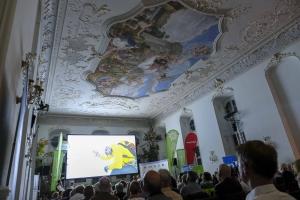 Barocksaal bei der Abschlussfeier des Bergfilm-Festivals 2018