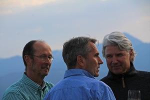 Michael Pause, Bürgermeister Johannes Hagn und Steffen Lunkenheimer vom BR